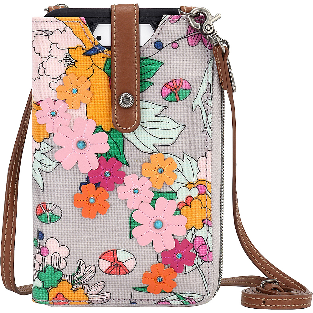 Sakroots Ella Smartphone Sling Crossbody Lilac Flower Power - Sakroots Electronic Cases - Technology, Electronic Cases