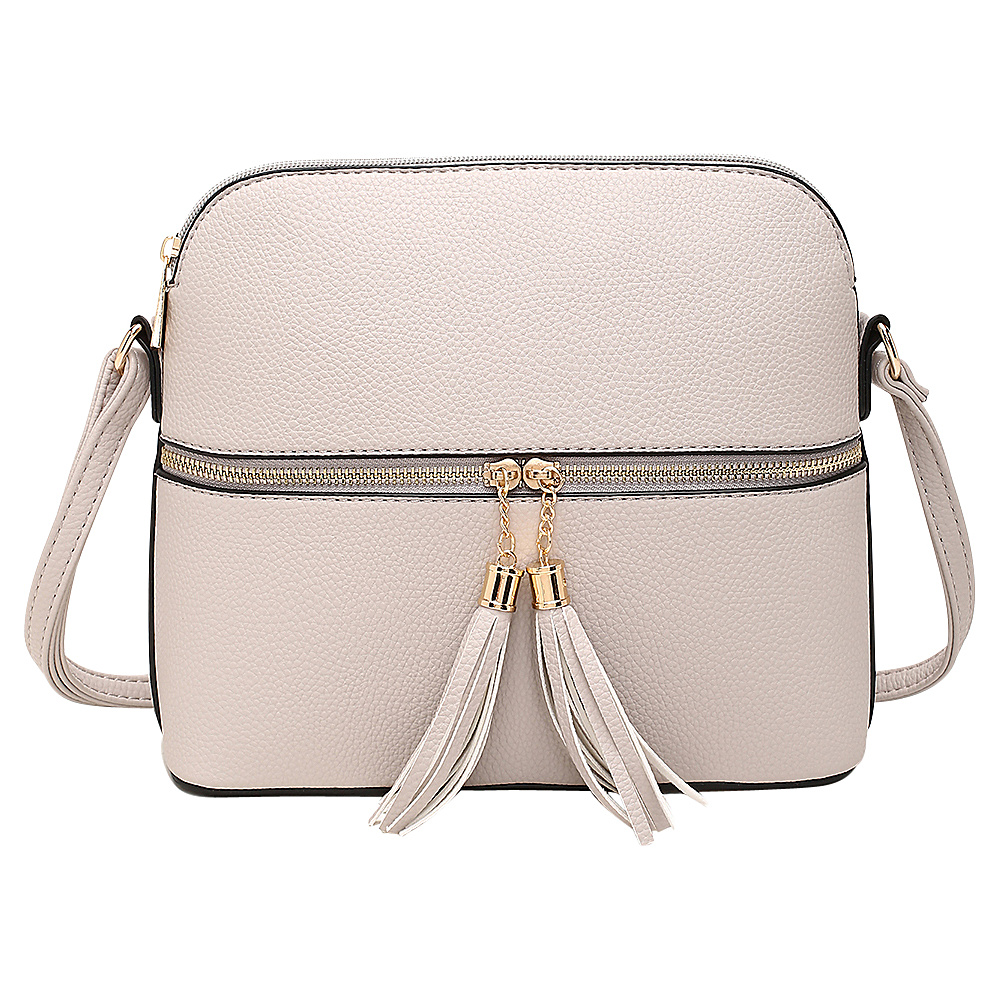 MKF Collection by Mia K. Farrow Alejandra Crossbody Beige - MKF Collection by Mia K. Farrow Manmade Handbags - Handbags, Manmade Handbags