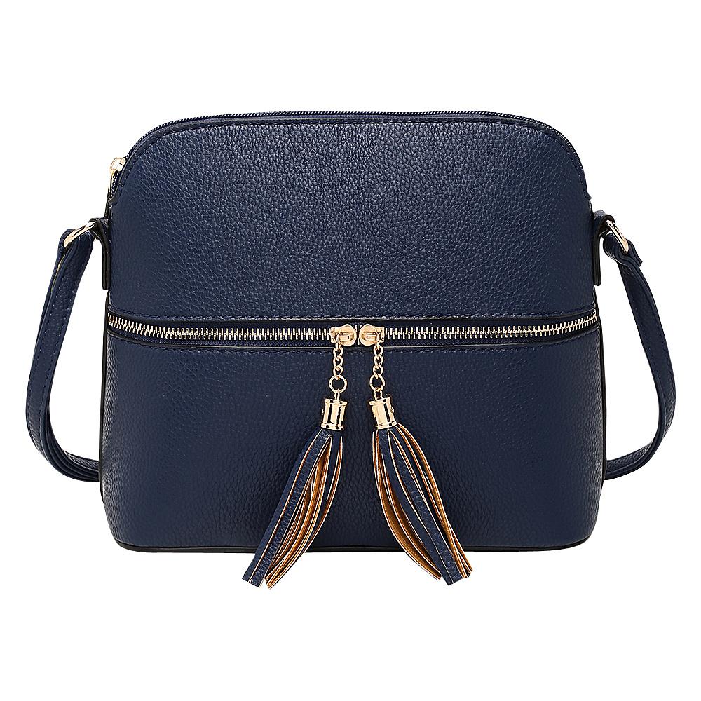 MKF Collection by Mia K. Farrow Alejandra Crossbody Blue - MKF Collection by Mia K. Farrow Manmade Handbags - Handbags, Manmade Handbags