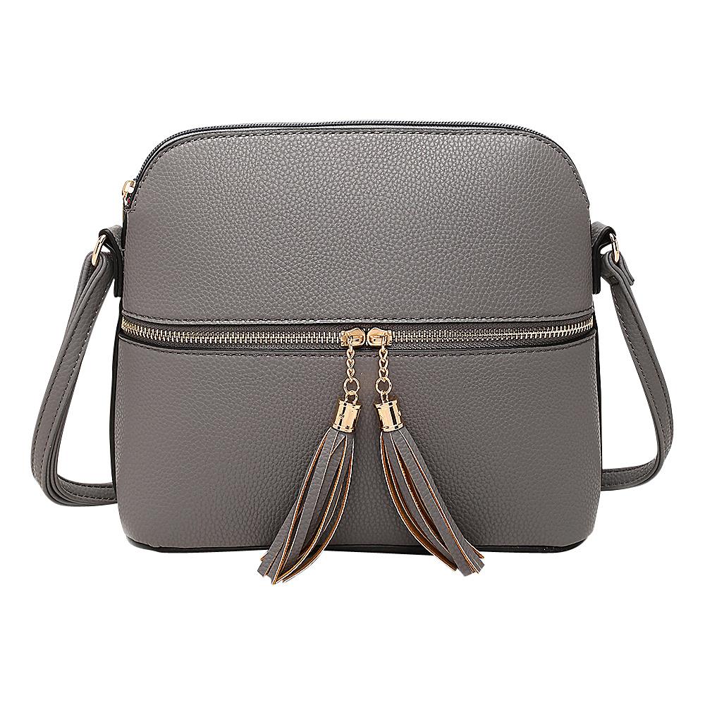 MKF Collection by Mia K. Farrow Alejandra Crossbody Grey - MKF Collection by Mia K. Farrow Manmade Handbags - Handbags, Manmade Handbags