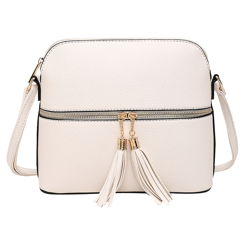 MKF Collection by Mia K. Farrow Alejandra Crossbody White - MKF Collection by Mia K. Farrow Manmade Handbags - Handbags, Manmade Handbags