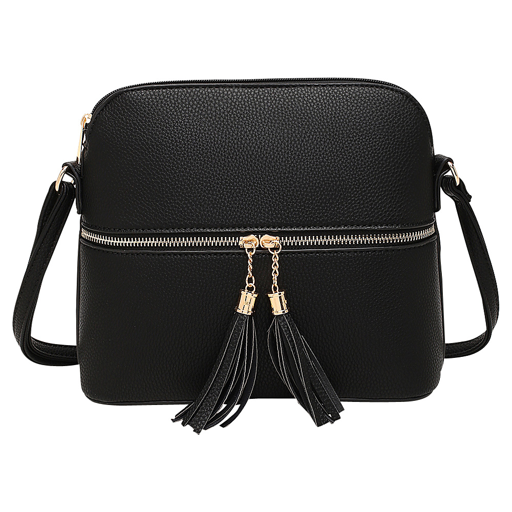 MKF Collection by Mia K. Farrow Alejandra Crossbody Black - MKF Collection by Mia K. Farrow Manmade Handbags - Handbags, Manmade Handbags
