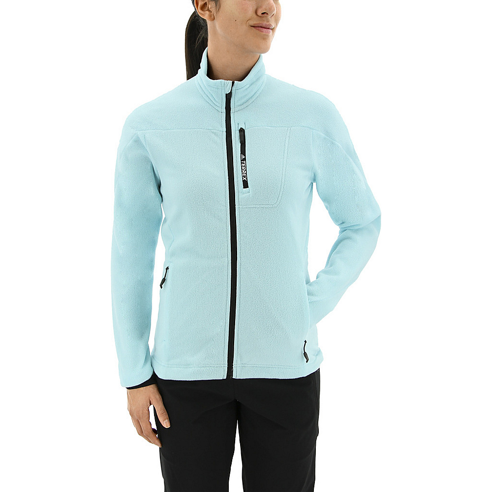 adidas outdoor Womens Terrex Tivid Fleece Jacket M - Clear Aqua - adidas outdoor Womens Apparel - Apparel & Footwear, Women's Apparel
