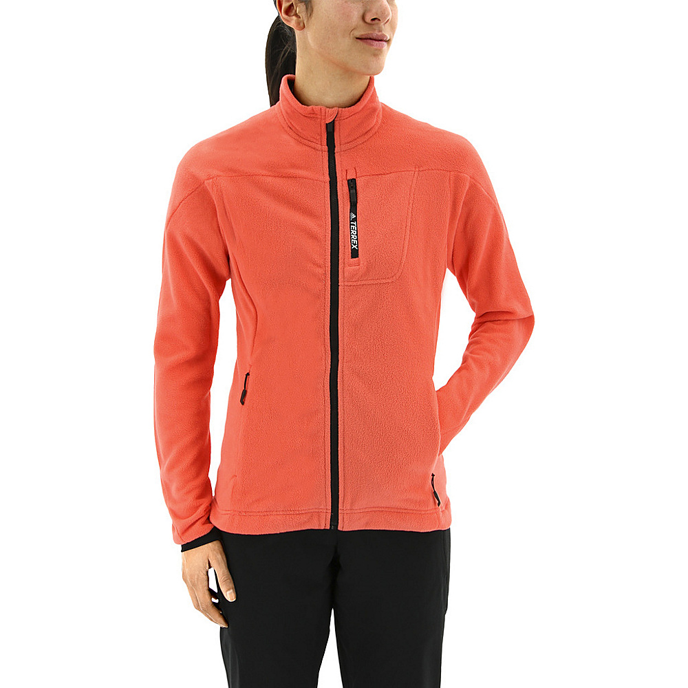 adidas outdoor Womens Terrex Tivid Fleece Jacket L - Easy Coral - adidas outdoor Womens Apparel - Apparel & Footwear, Women's Apparel
