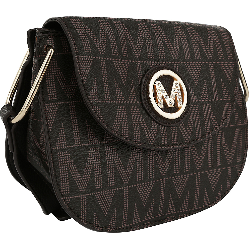 MKF Collection by Mia K. Farrow Paola M Signature Crossbody Chocolate - MKF Collection by Mia K. Farrow Manmade Handbags - Handbags, Manmade Handbags