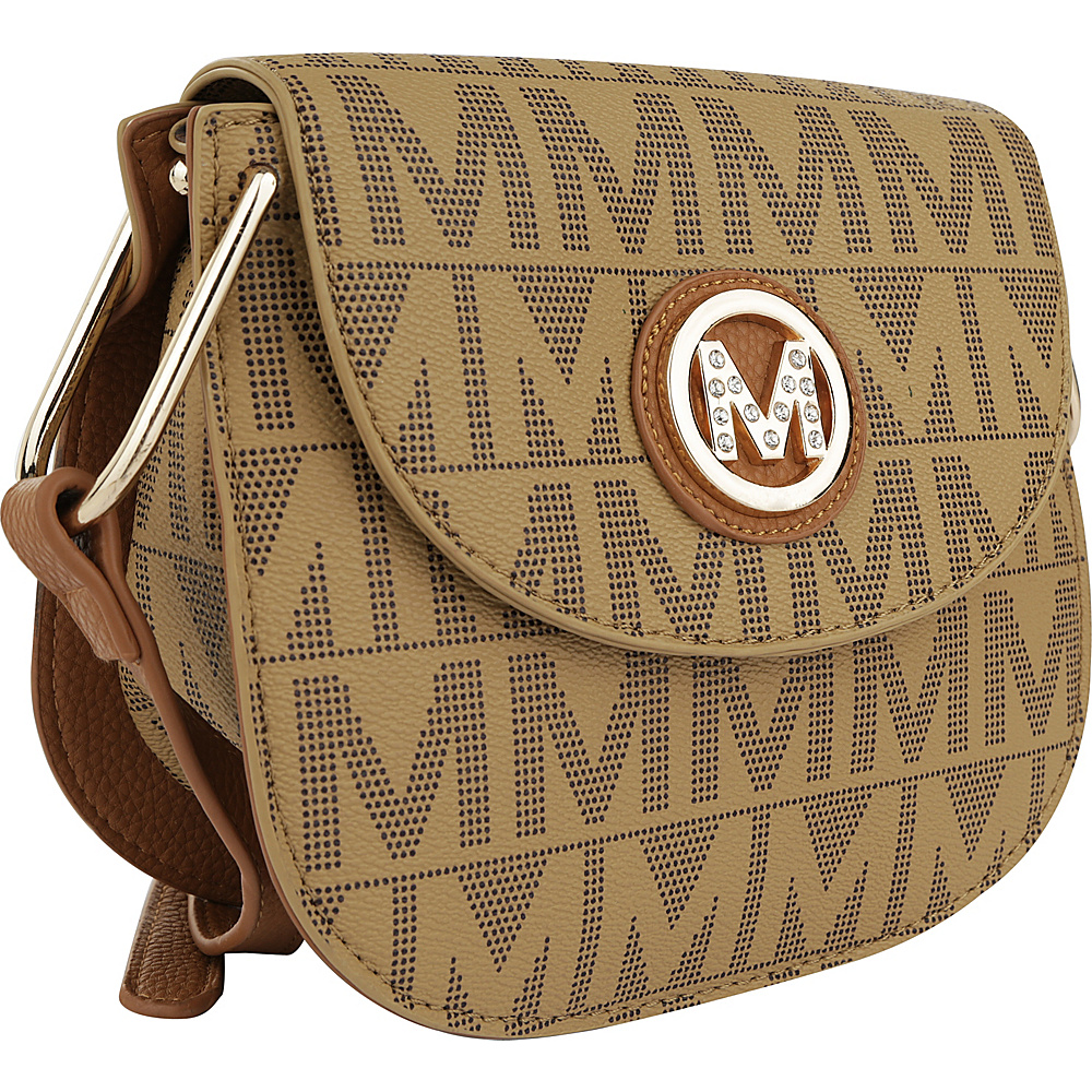 MKF Collection by Mia K. Farrow Paola M Signature Crossbody Taupe - MKF Collection by Mia K. Farrow Manmade Handbags - Handbags, Manmade Handbags