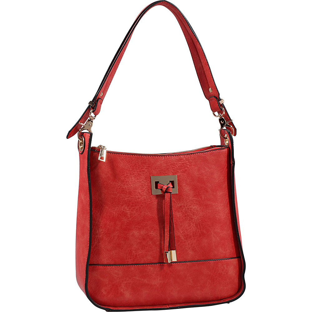MKF Collection by Mia K. Farrow Xena Shoulder Bag Coral - MKF Collection by Mia K. Farrow Manmade Handbags - Handbags, Manmade Handbags