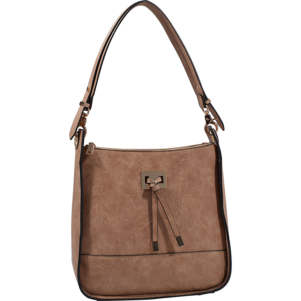 MKF Collection by Mia K. Farrow Xena Shoulder Bag Taupe - MKF Collection by Mia K. Farrow Manmade Handbags - Handbags, Manmade Handbags