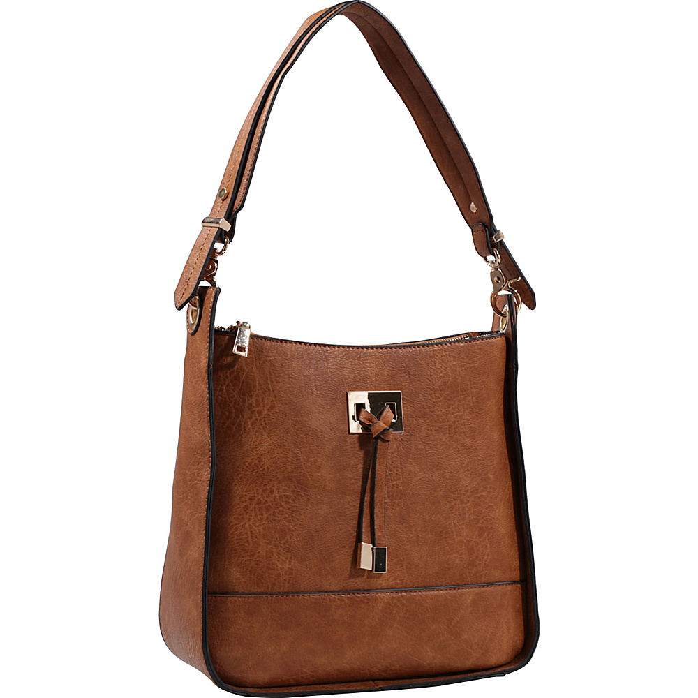 MKF Collection by Mia K. Farrow Xena Shoulder Bag Brown - MKF Collection by Mia K. Farrow Manmade Handbags - Handbags, Manmade Handbags