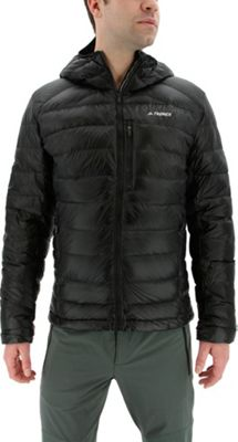 adidas outdoor Mens Terrex Climaheat Agravic Down Hooded Jacket S - Black - adidas outdoor Men's Apparel 10601013