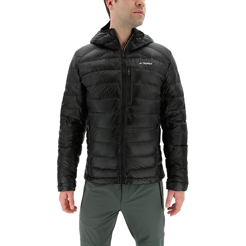 adidas outdoor Mens Terrex Climaheat Agravic Down Hooded Jacket S - Black - adidas outdoor Mens Apparel - Apparel & Footwear, Men's Apparel