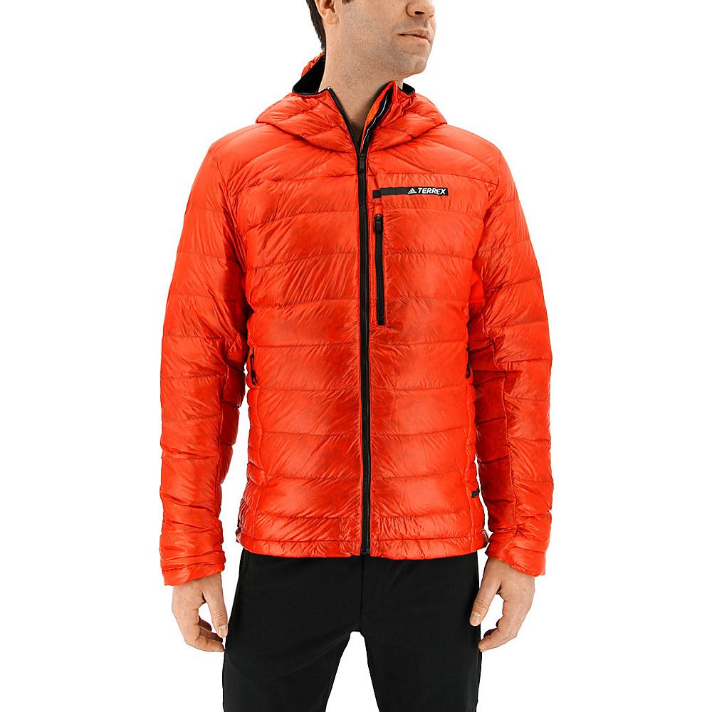 adidas outdoor Mens Terrex Climaheat Agravic Down Hooded Jacket S - Energy - adidas outdoor Mens Apparel - Apparel & Footwear, Men's Apparel