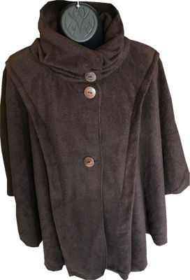 LollyZip Wrap n' Roll Travel Cape and Neck Pillow in One One Size  - Dark Cocoa - LollyZip Women's Apparel