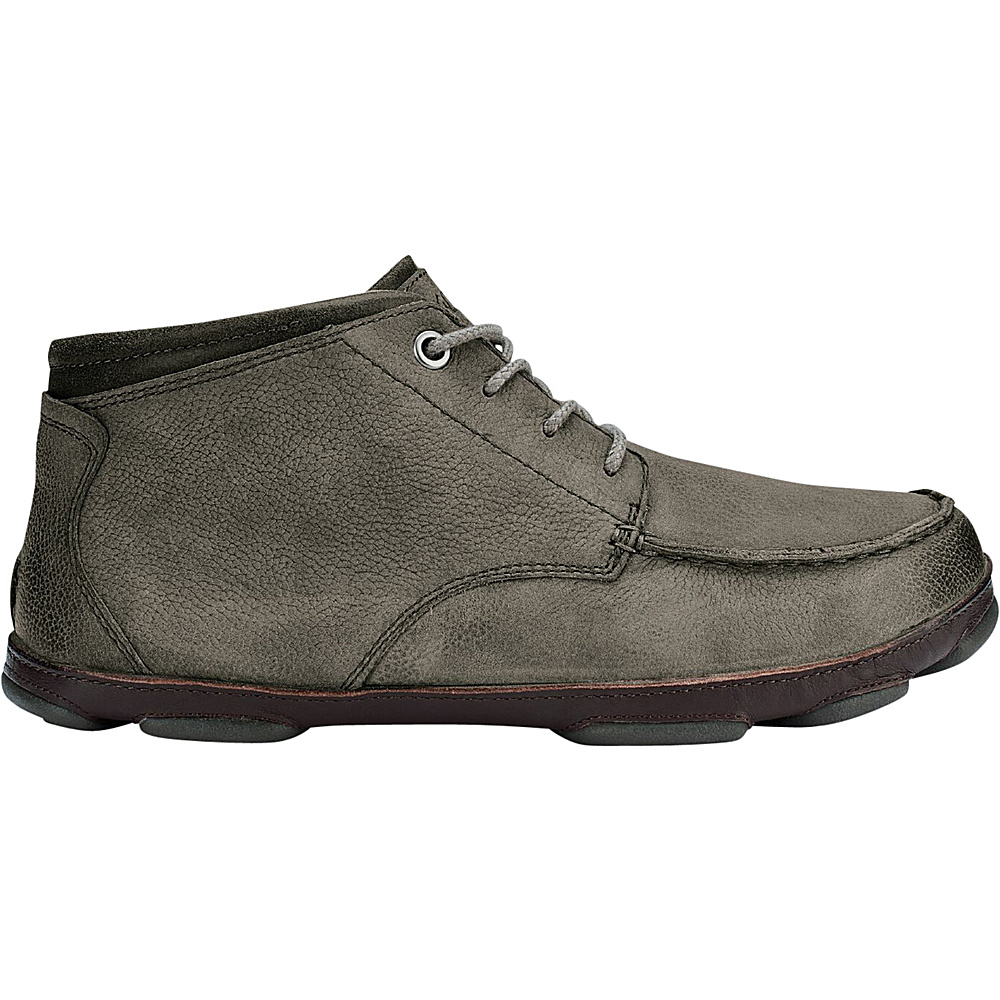 OluKai Mens Hamakua Boot 8.5 - Storm Grey/Dark Wood - OluKai Mens Footwear - Apparel & Footwear, Men's Footwear