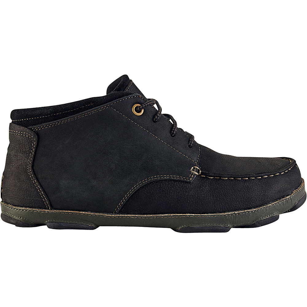 OluKai Mens Hamakua Boot 10 - Black/Dark Shadow - OluKai Mens Footwear - Apparel & Footwear, Men's Footwear