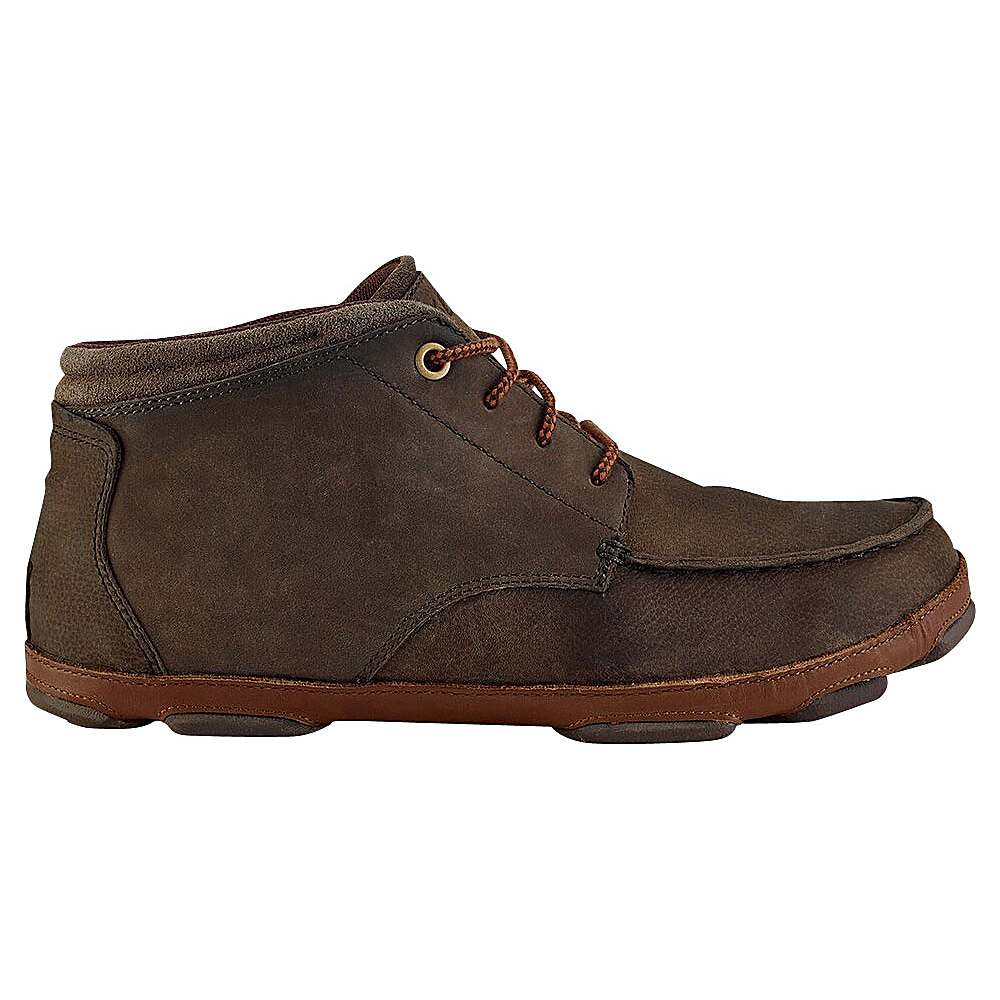 OluKai Mens Hamakua Boot 7 - Dark Wood/Toffee - OluKai Mens Footwear - Apparel & Footwear, Men's Footwear