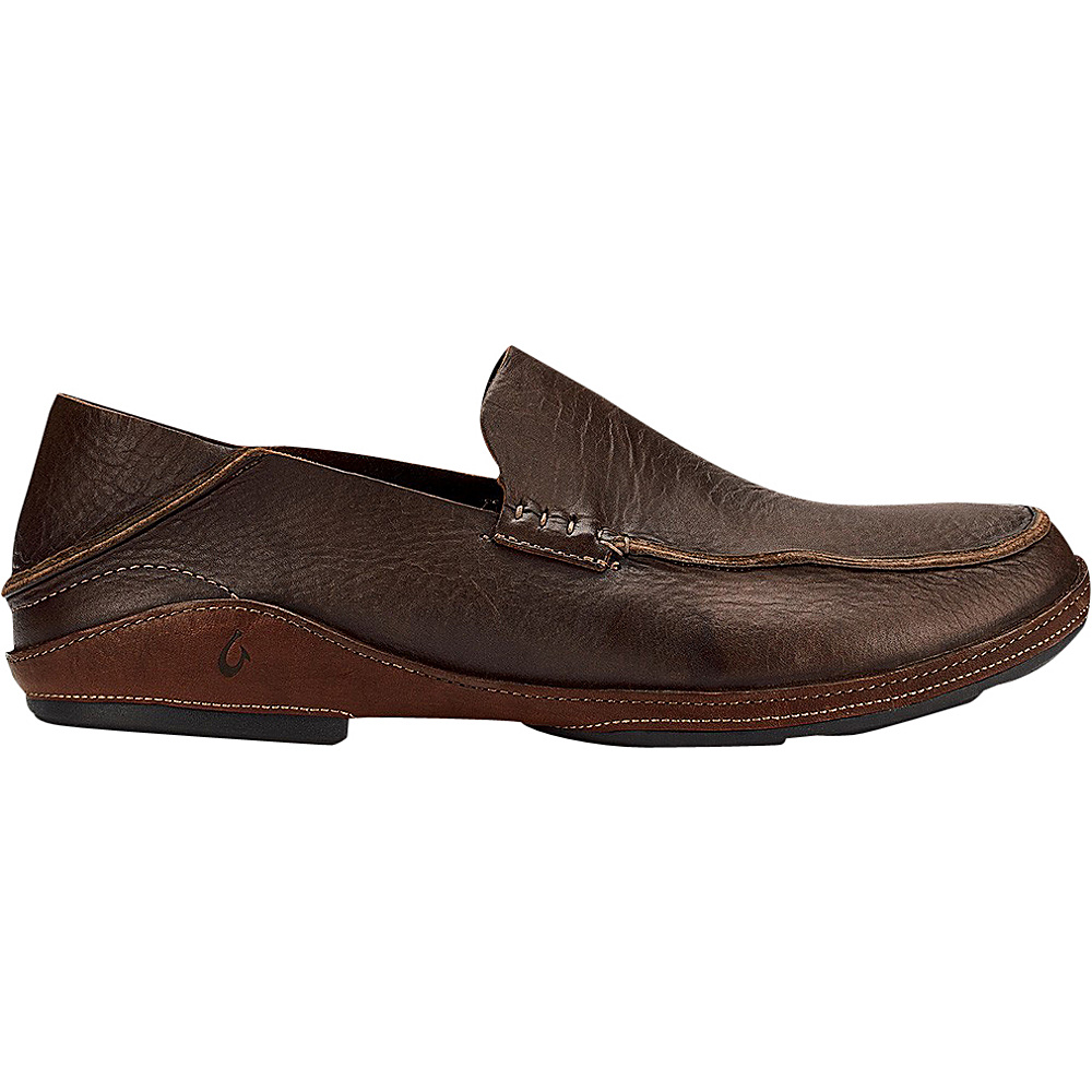 OluKai Mens Nio Slip-On 11.5 - Dark Wood/Rum - OluKai Mens Footwear - Apparel & Footwear, Men's Footwear