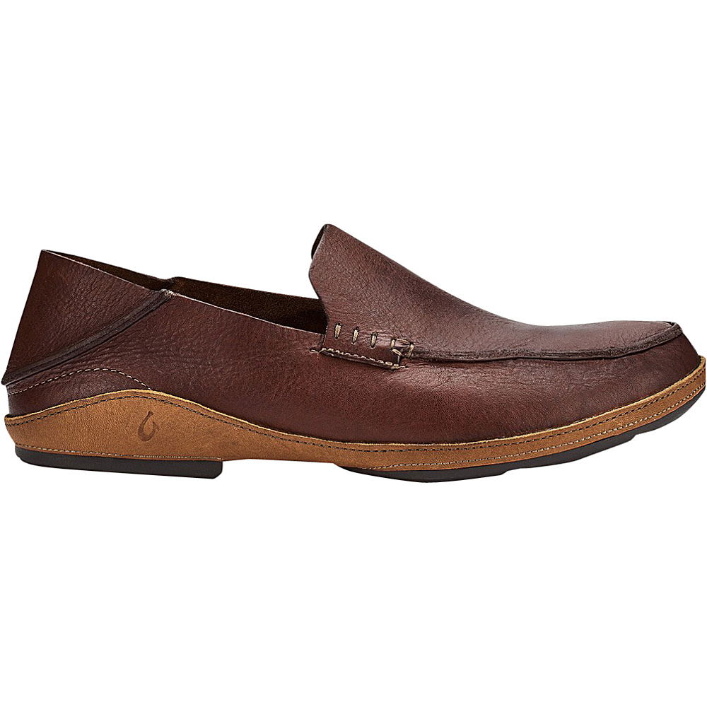 OluKai Mens Nio Slip-On 8 - Rum/Mustard - OluKai Mens Footwear - Apparel & Footwear, Men's Footwear