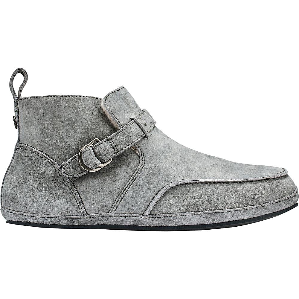 OluKai Womens Ola Hou Slipper 8 - Fog/Fog - OluKai Womens Footwear - Apparel & Footwear, Women's Footwear
