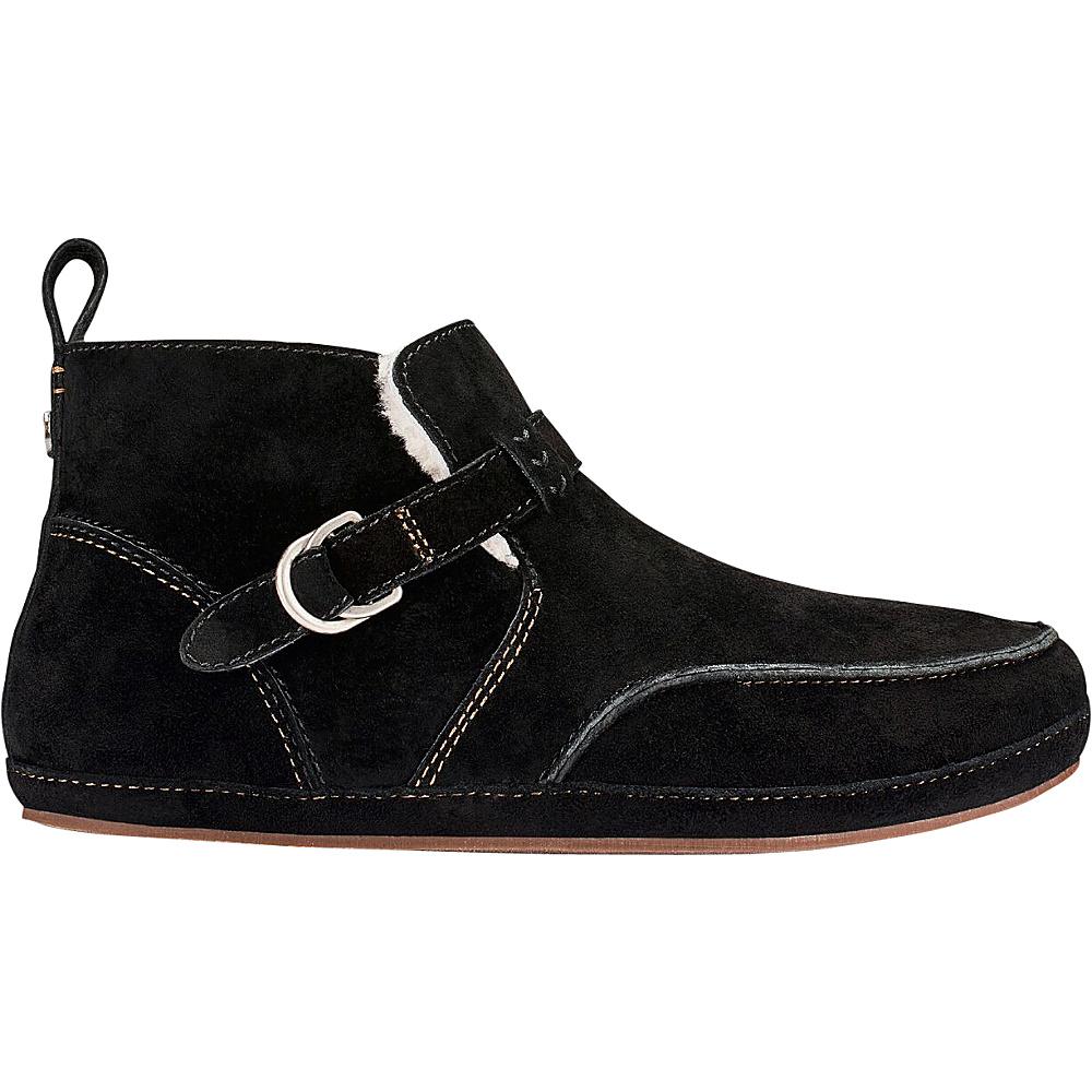 OluKai Womens Ola Hou Slipper 5 - Black/Black - OluKai Womens Footwear - Apparel & Footwear, Women's Footwear