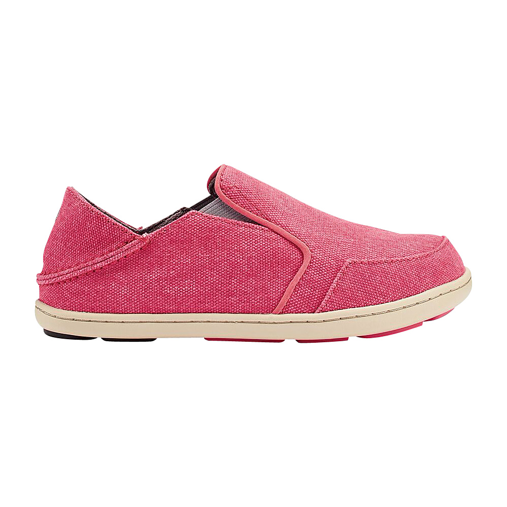 OluKai Girls Nohea Lole Slip-On 11 (US Kids) - Bing Pink/Grey - OluKai Womens Footwear - Apparel & Footwear, Women's Footwear