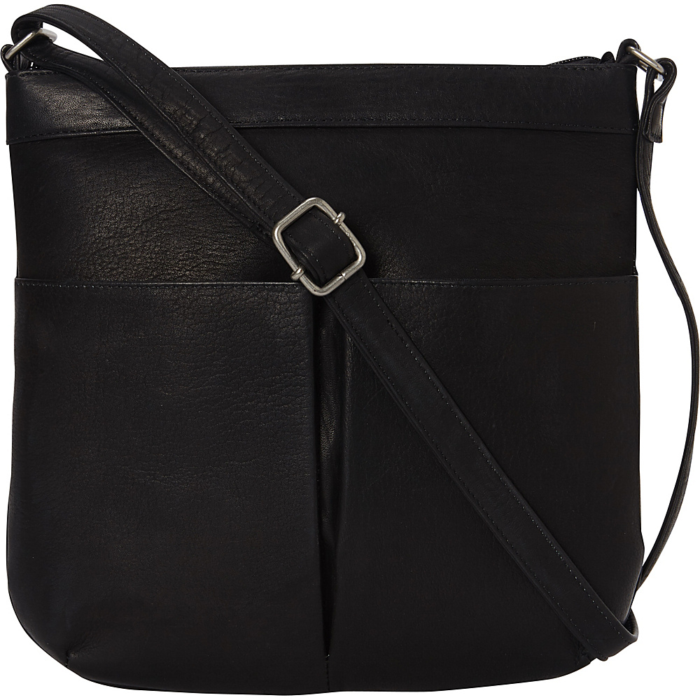 Le Donne Leather Ambrose Crossbody Black - Le Donne Leather Leather Handbags - Handbags, Leather Handbags