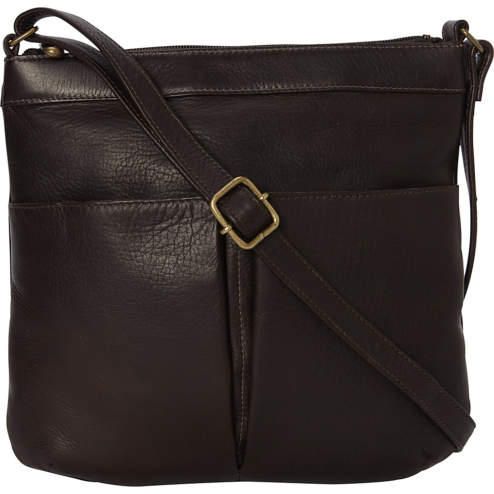 Le Donne Leather Ambrose Crossbody Cafe - Le Donne Leather Leather Handbags - Handbags, Leather Handbags
