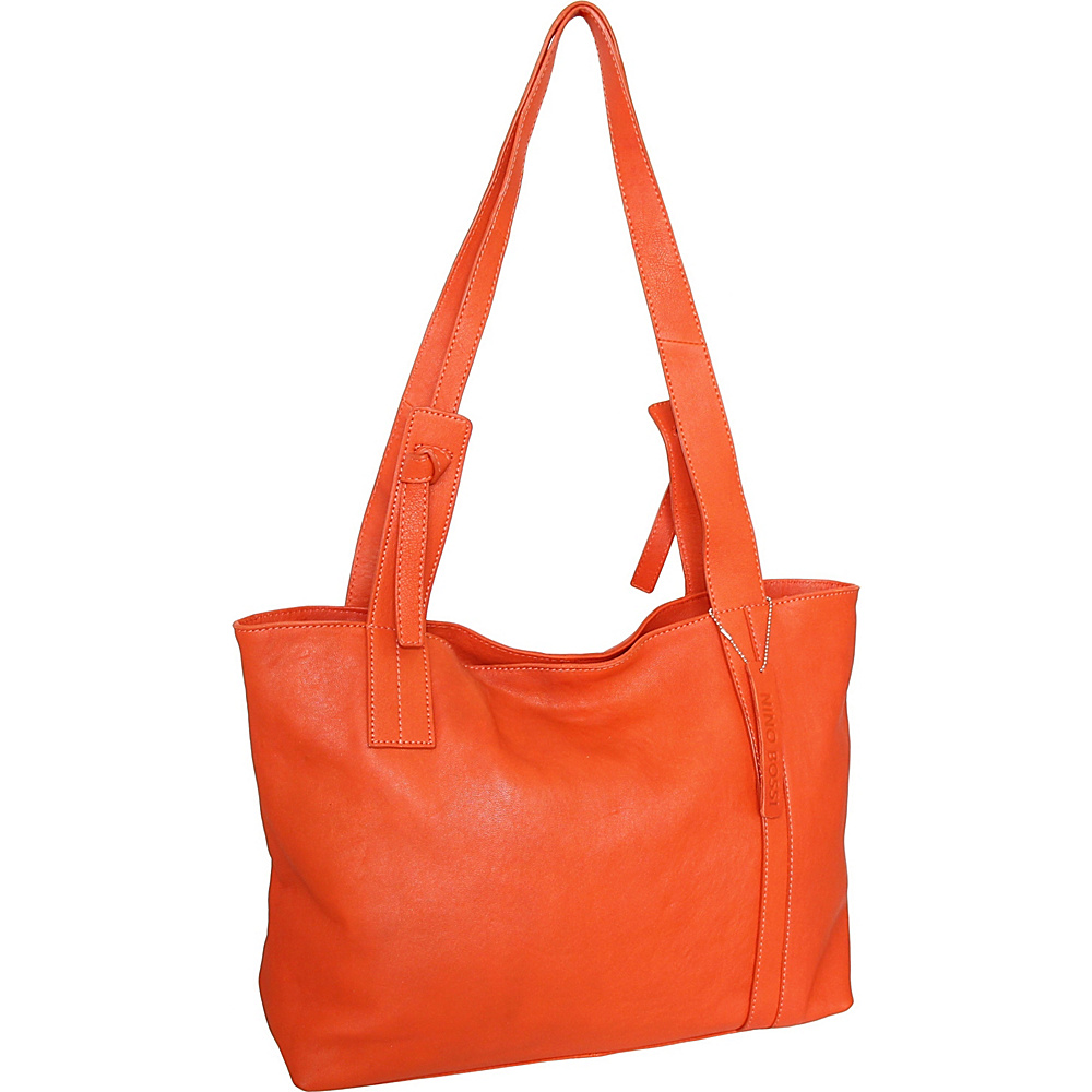 Nino Bossi Isa Tote Tangerine - Nino Bossi Leather Handbags - Handbags, Leather Handbags