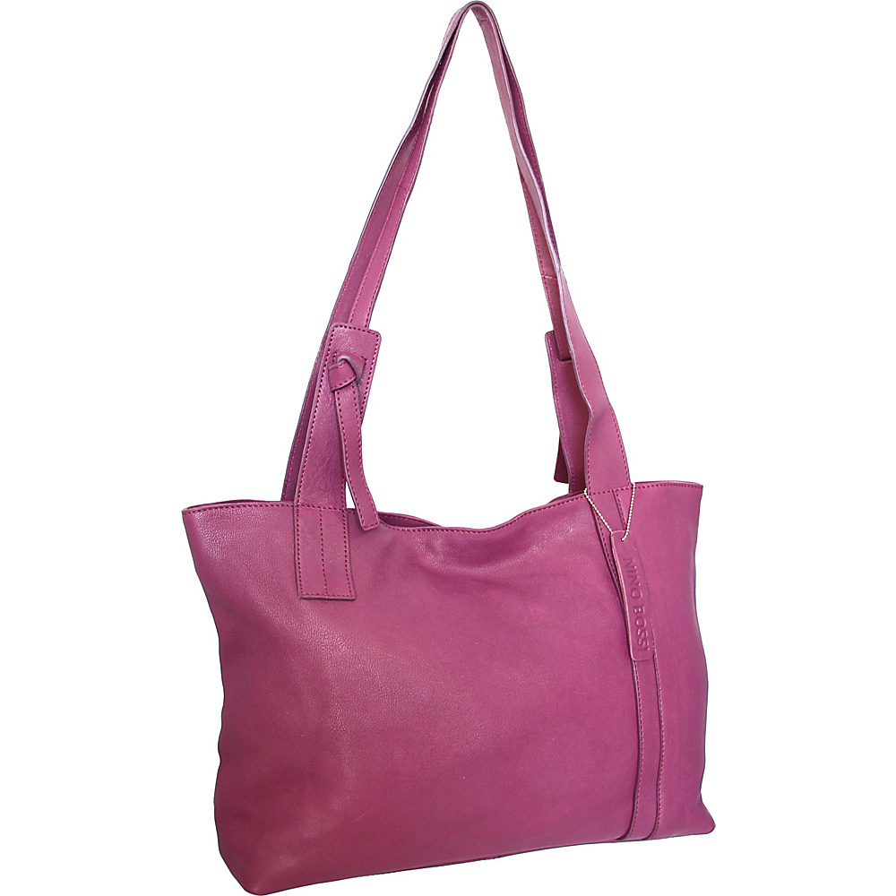 Nino Bossi Isa Tote Plum - Nino Bossi Leather Handbags - Handbags, Leather Handbags