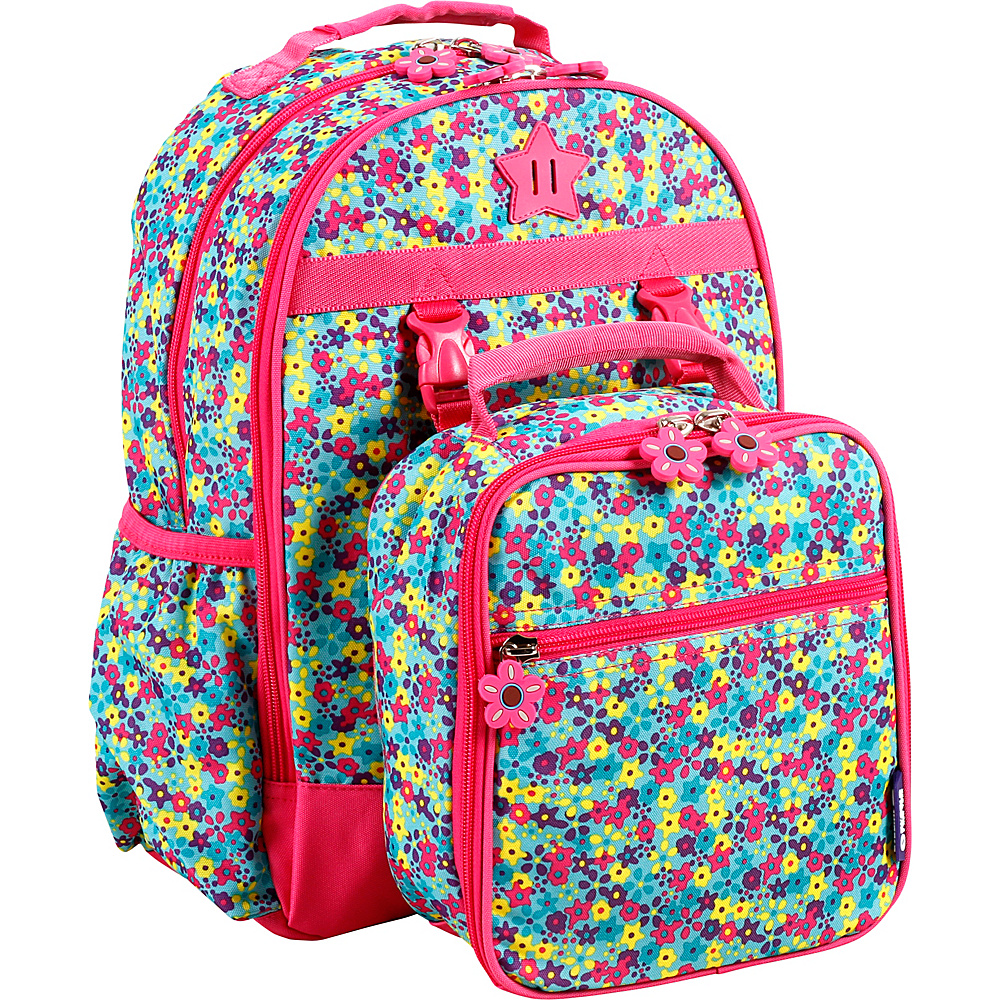 J World New York Duet Kids Backpack with Lunch Bag Floret - J World New York Rolling Backpacks - Backpacks, Rolling Backpacks