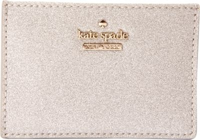 kate spade new york Burgess Court Card Holder Silver - kate spade new york Women's Wallets 10604550