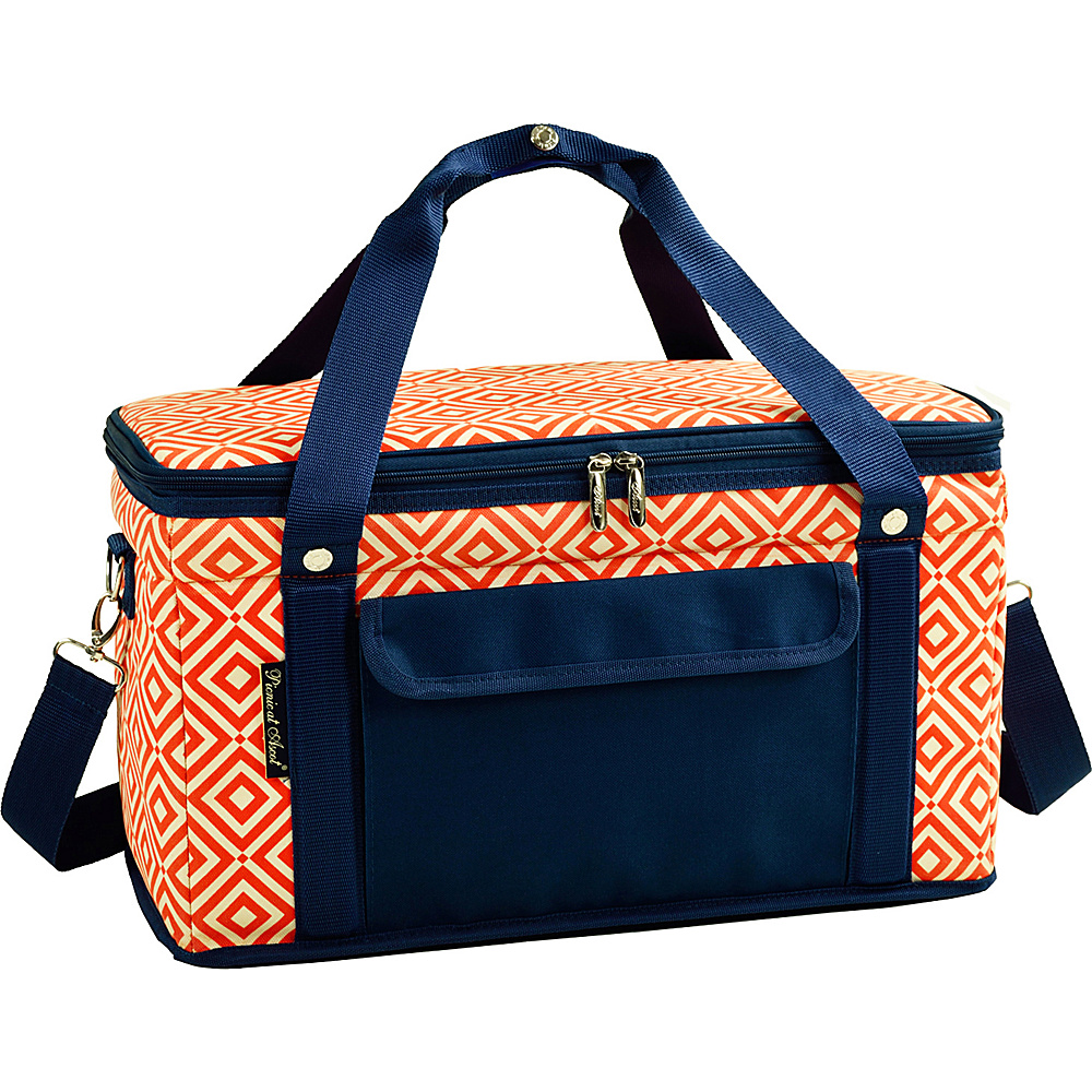 Picnic at Ascot Collapsible 42 Can Semi Rigid Soft Folding Cooler with High Density Insulation Orange/Navy - Picnic at Ascot Travel Coolers - Travel Accessories, Travel Coolers