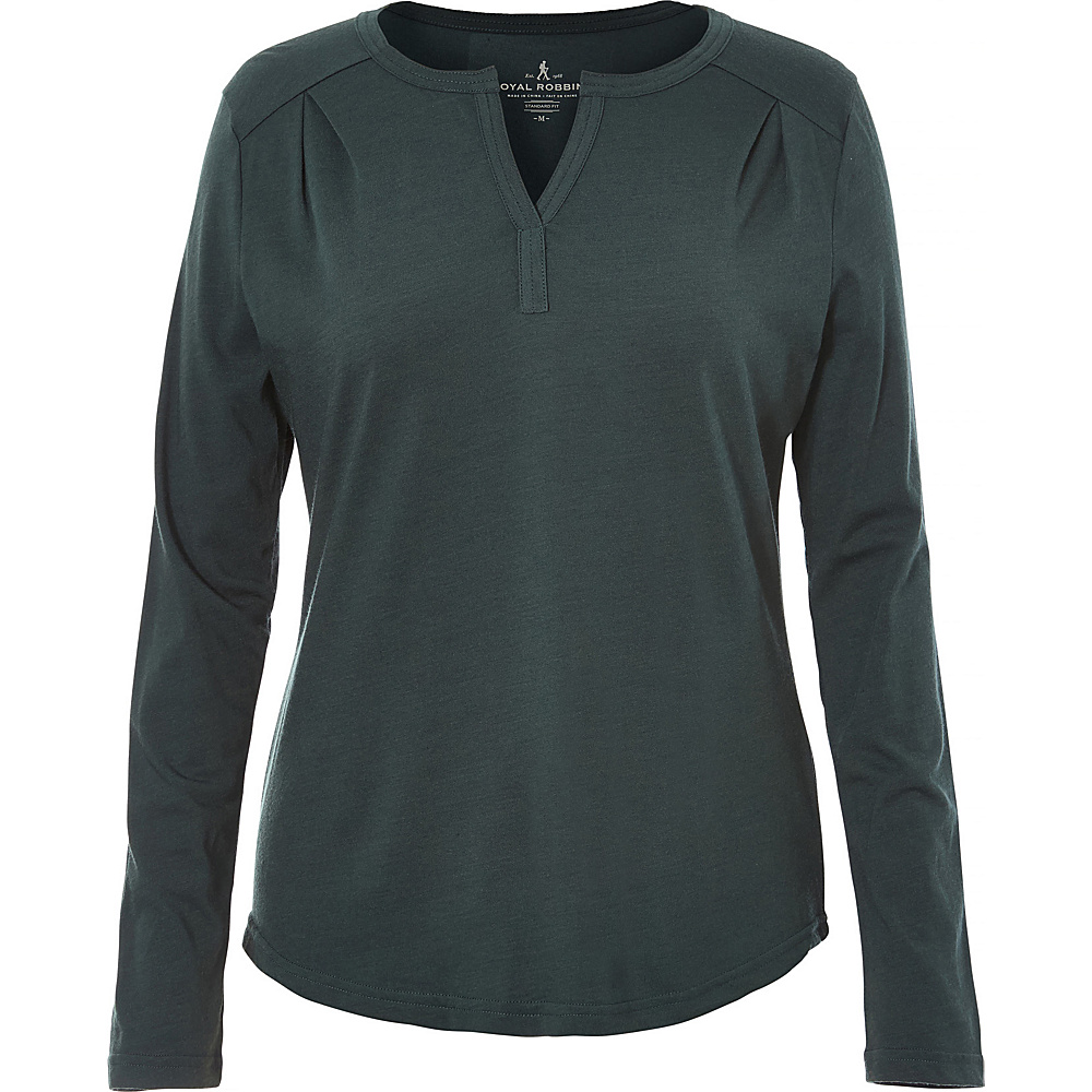 Royal Robbins Womens MerinoLux Henley S - Green Gables - Royal Robbins Womens Apparel - Apparel & Footwear, Women's Apparel