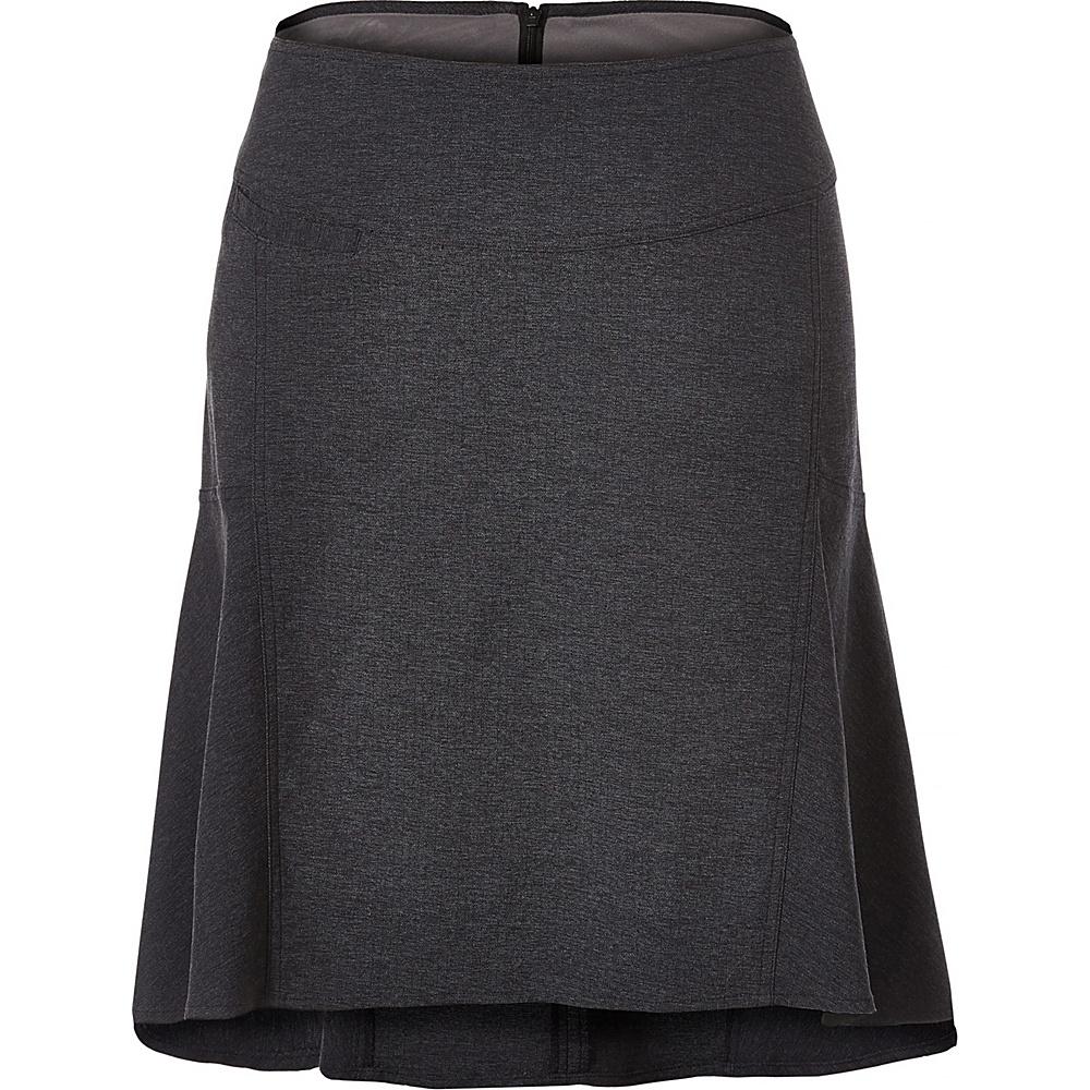 Royal Robbins Womens Herringbone Discovery Strider Skirt 2 - Charcoal - Royal Robbins Womens Apparel - Apparel & Footwear, Women's Apparel