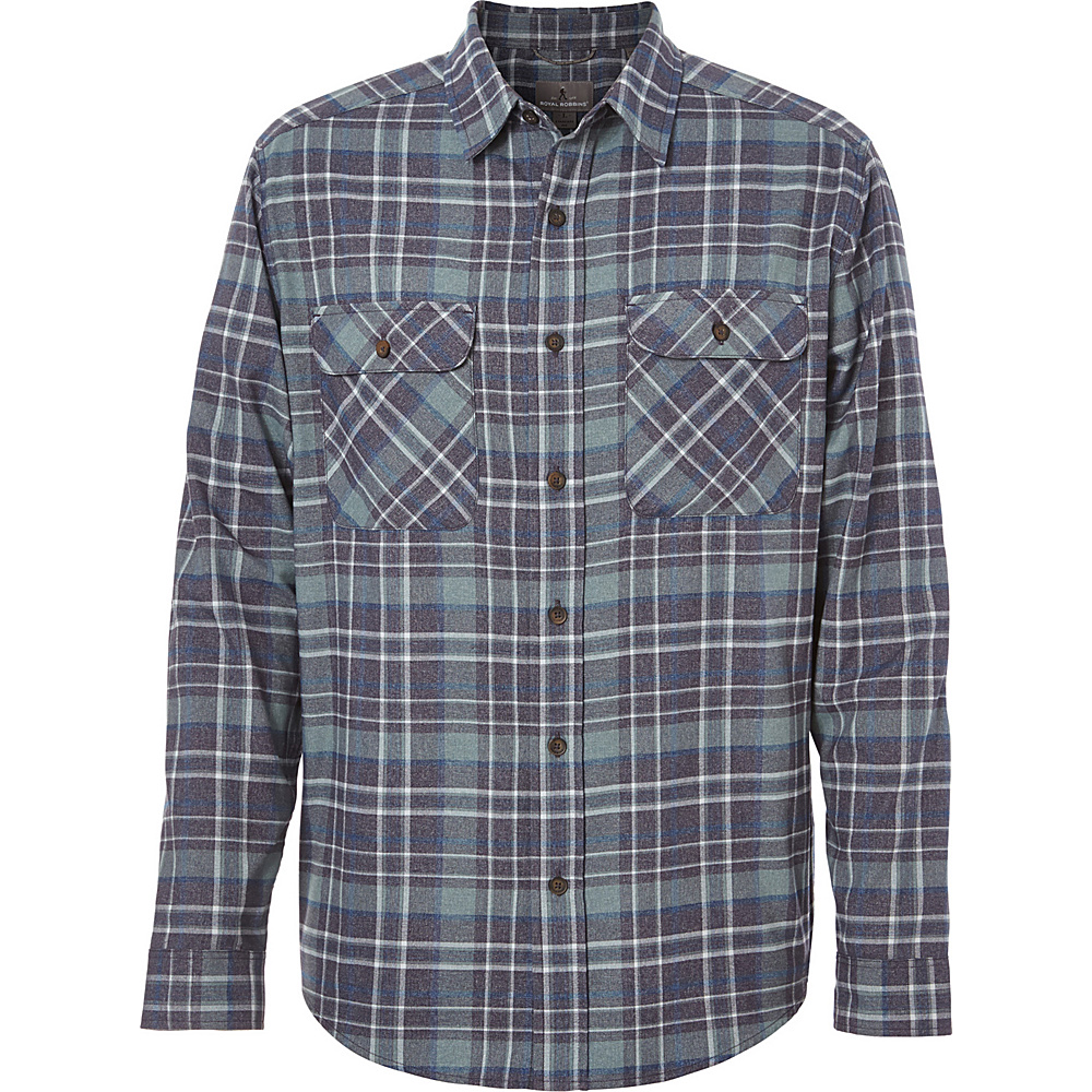 Royal Robbins Mens Performance Flannel Plaid Long Sleeve Shirt 3XL - Nine Iron - Royal Robbins Mens Apparel - Apparel & Footwear, Men's Apparel