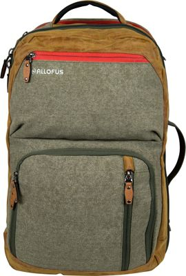 All of Us Drifter Travel Pack Messenger Bag Green Canvas - All of Us Travel Backpacks