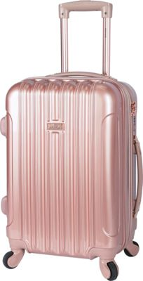 Kensie Luggage 20 inch Expandable Hardside Carry-On Spinner Luggage - EXCLUSIVE Rose Gold - Kensie Luggage Hardside Carry-On