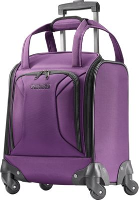 American Tourister Zoom 15 inch Carry-On Underseat Spinner Tote Purple - American Tourister Softside Carry-On