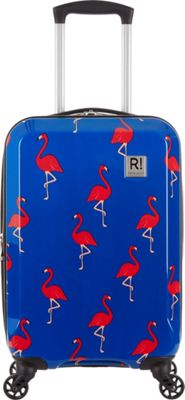 Revelation Maluku BQ Max 22 inch Expandable Hardside Carry-On Spinner Luggage Navy Flamingos - Revelation Hardside Carry-On