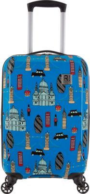 Revelation Maluku BQ Max 22 inch Expandable Hardside Carry-On Spinner Luggage Blue London - Revelation Hardside Carry-On