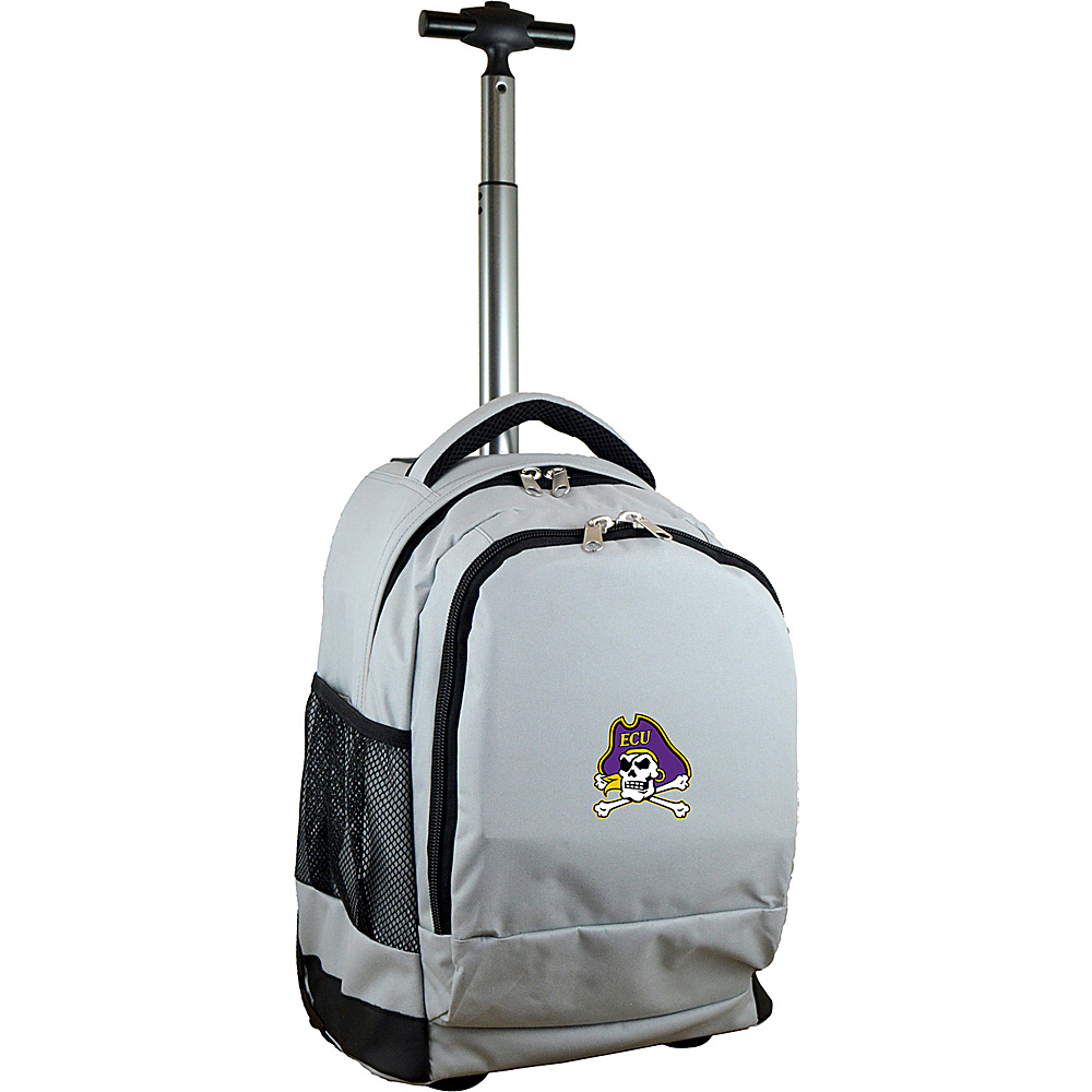 MOJO Denco College NCAA Premium Laptop Rolling Backpack East Carolina - MOJO Denco Rolling Backpacks - Backpacks, Rolling Backpacks