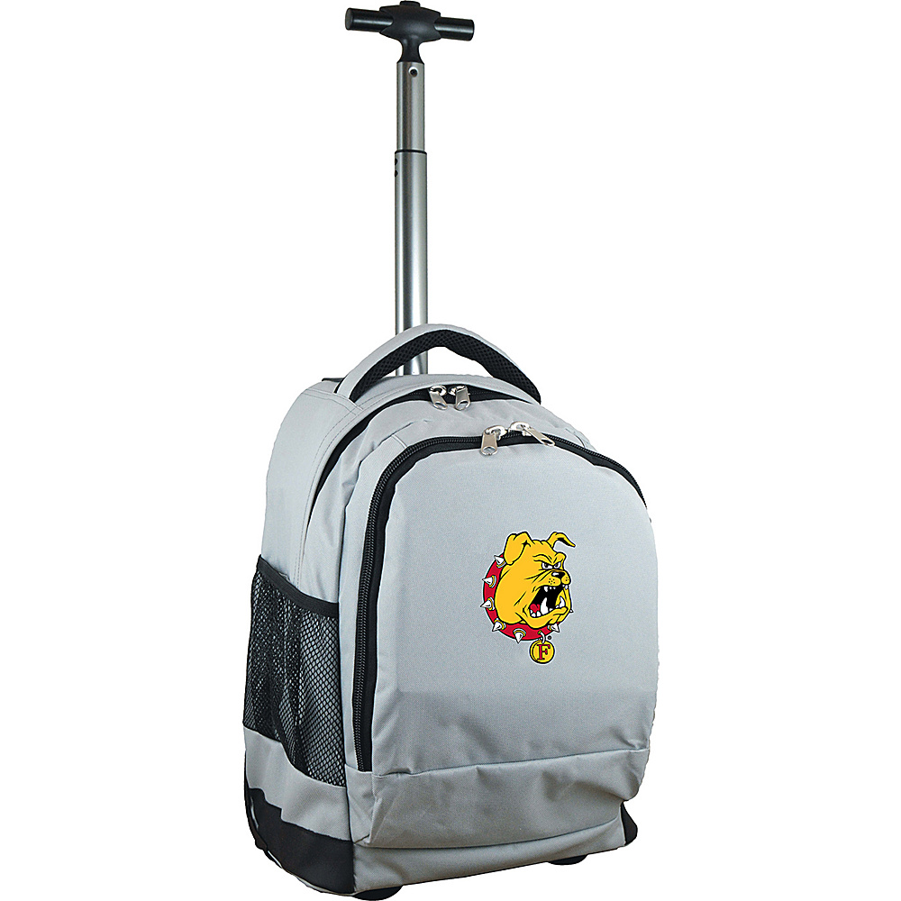 MOJO Denco College NCAA Premium Laptop Rolling Backpack Ferris State - MOJO Denco Rolling Backpacks - Backpacks, Rolling Backpacks