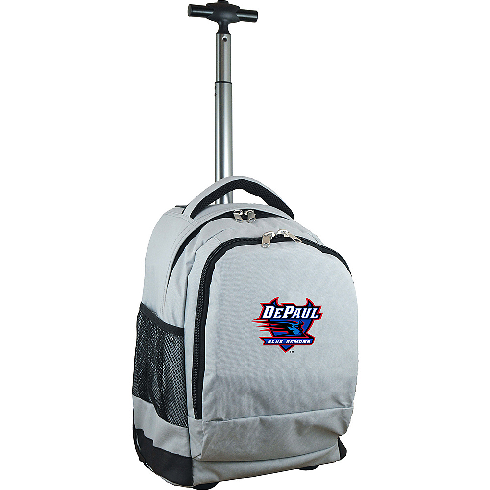 MOJO Denco College NCAA Premium Laptop Rolling Backpack DePaul - MOJO Denco Rolling Backpacks - Backpacks, Rolling Backpacks