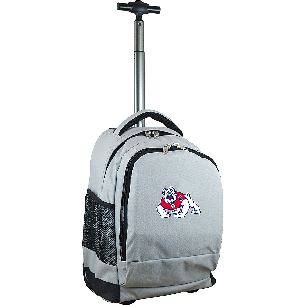 MOJO Denco College NCAA Premium Laptop Rolling Backpack Fresno State - MOJO Denco Rolling Backpacks - Backpacks, Rolling Backpacks