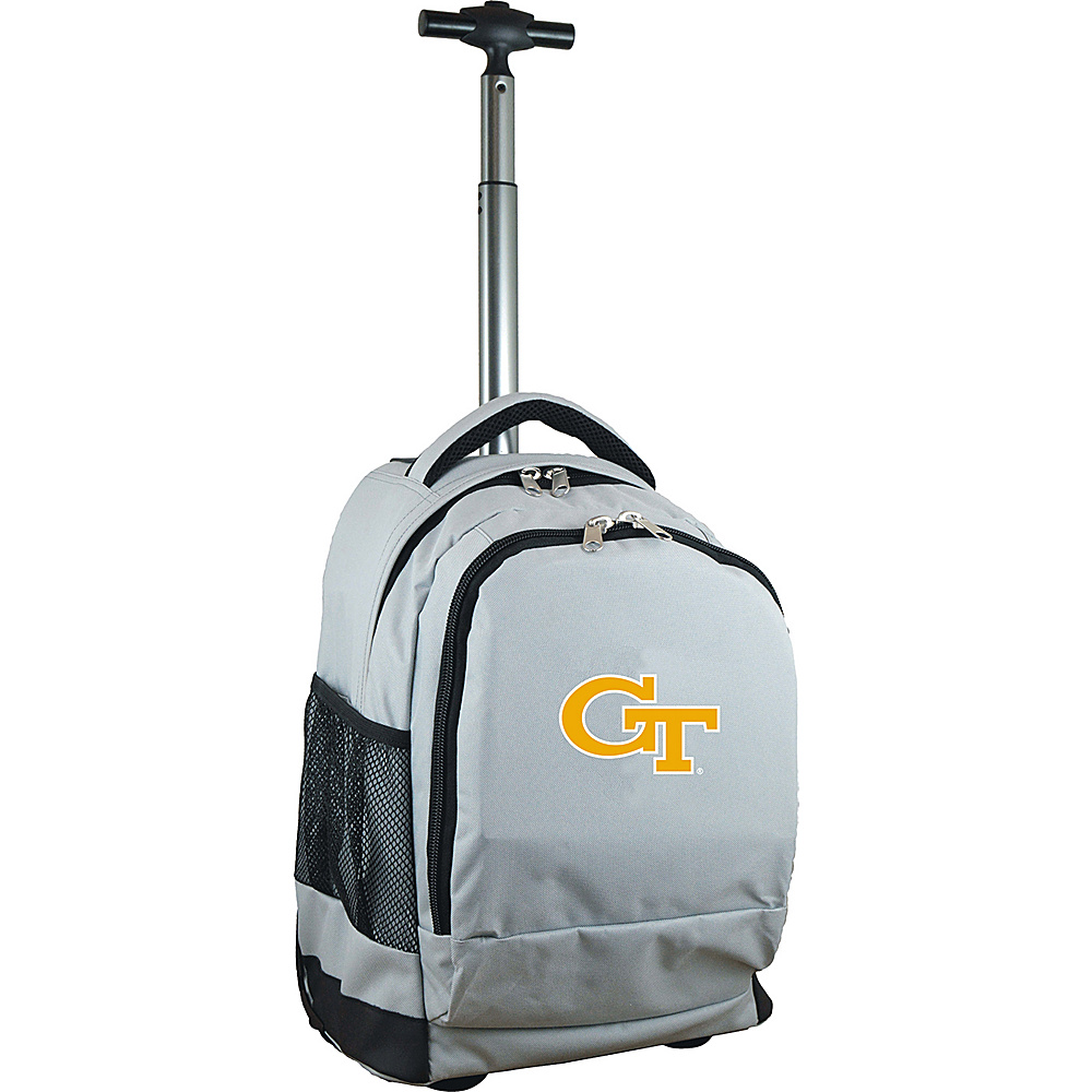 MOJO Denco College NCAA Premium Laptop Rolling Backpack Georgia Tech - MOJO Denco Rolling Backpacks - Backpacks, Rolling Backpacks