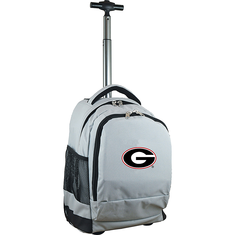 MOJO Denco College NCAA Premium Laptop Rolling Backpack Georgia - MOJO Denco Rolling Backpacks - Backpacks, Rolling Backpacks