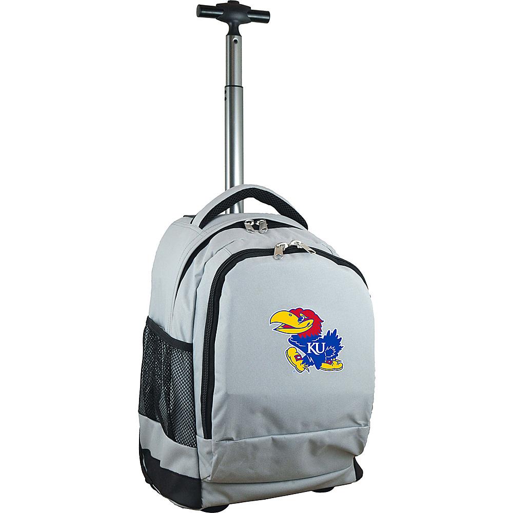 MOJO Denco College NCAA Premium Laptop Rolling Backpack Kansas - MOJO Denco Rolling Backpacks - Backpacks, Rolling Backpacks