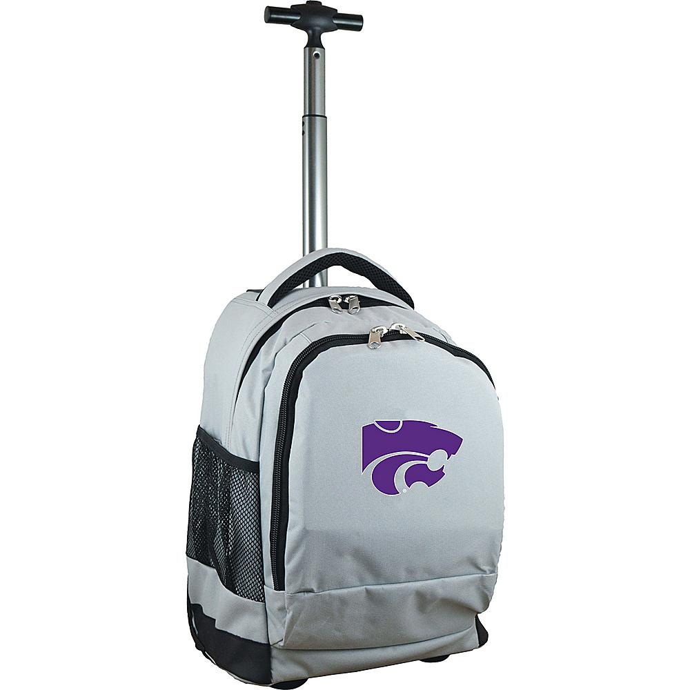 MOJO Denco College NCAA Premium Laptop Rolling Backpack Kansas State - MOJO Denco Rolling Backpacks - Backpacks, Rolling Backpacks