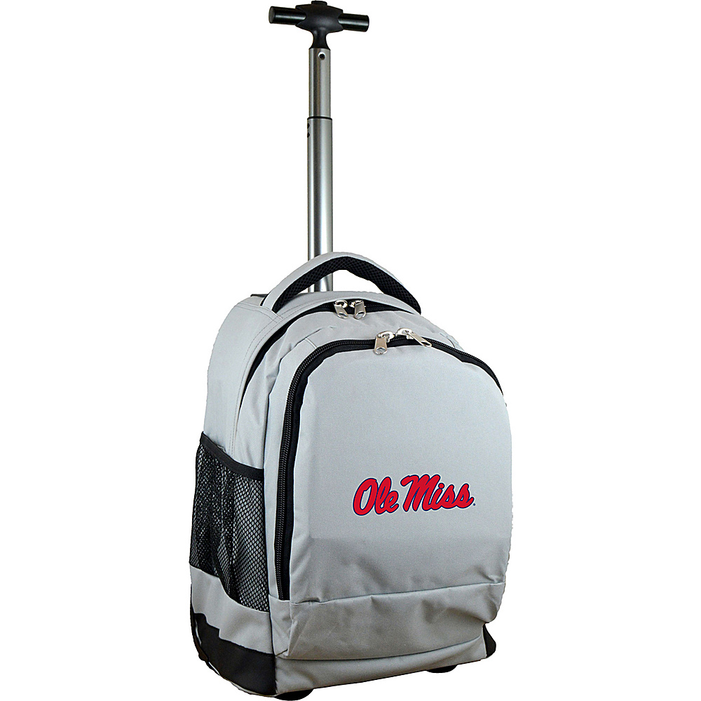 MOJO Denco College NCAA Premium Laptop Rolling Backpack Mississippi - MOJO Denco Rolling Backpacks - Backpacks, Rolling Backpacks