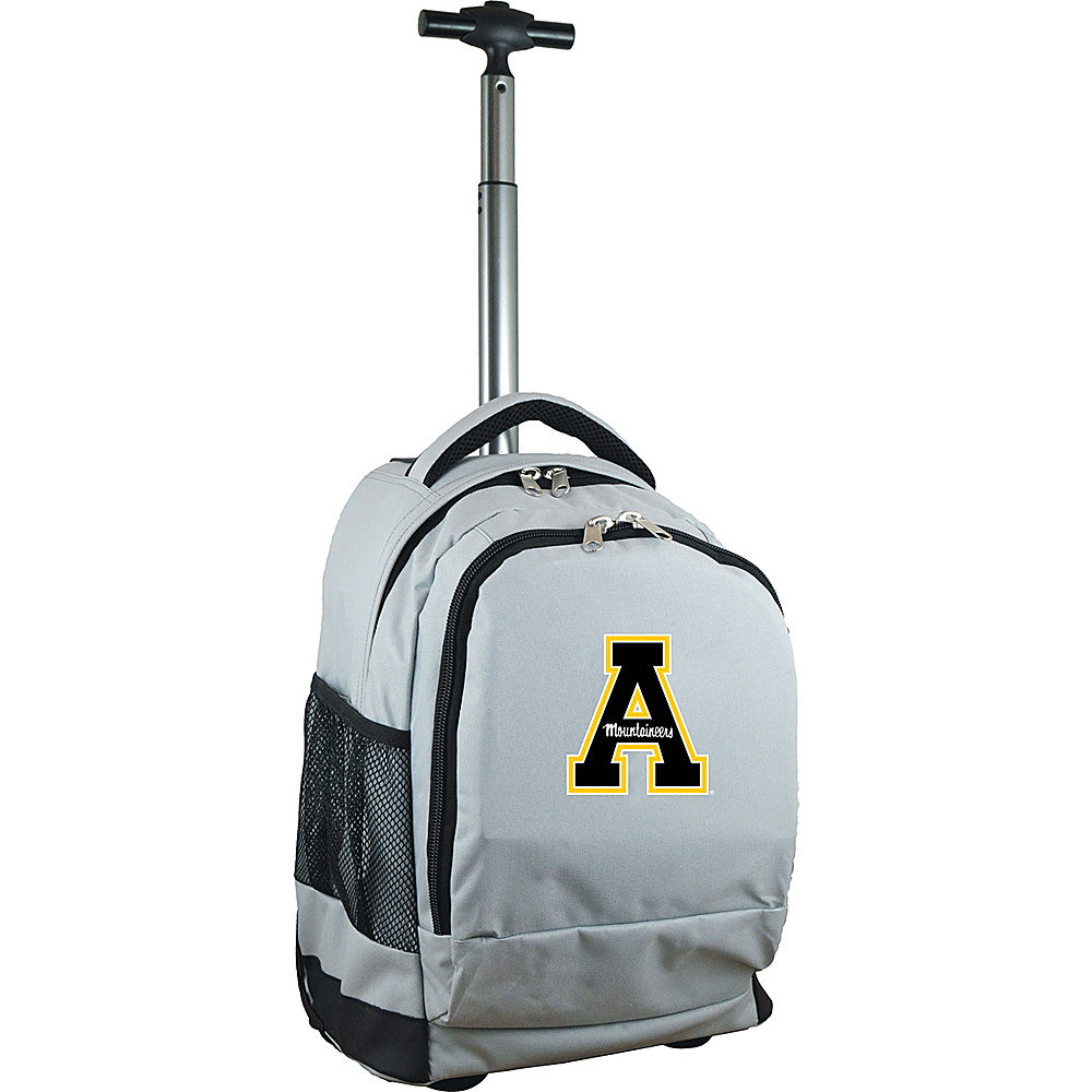 MOJO Denco College NCAA Premium Laptop Rolling Backpack Appalachian State - MOJO Denco Rolling Backpacks - Backpacks, Rolling Backpacks